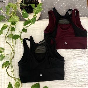 Lululemon 🍋 BUNDLE: high neck sports bra (size 4)